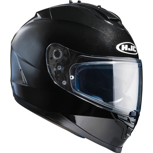 HJC IS-17 PLAIN BLACK Motorcycle Helmet - HJC -  - MSG BIKE GEAR