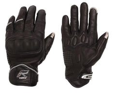 RUKKA RYTMI TOUCH SCREEN LEATHER SHORT MOTORCYCLE GLOVES BLACK - RUKKA -  - MSG BIKE GEAR