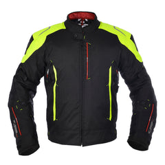 Oxford Toledo 1.0 Men's Waterproof Short Motorcycle Jacket - Black/Fluo - Oxford -  - MSG BIKE GEAR - 1