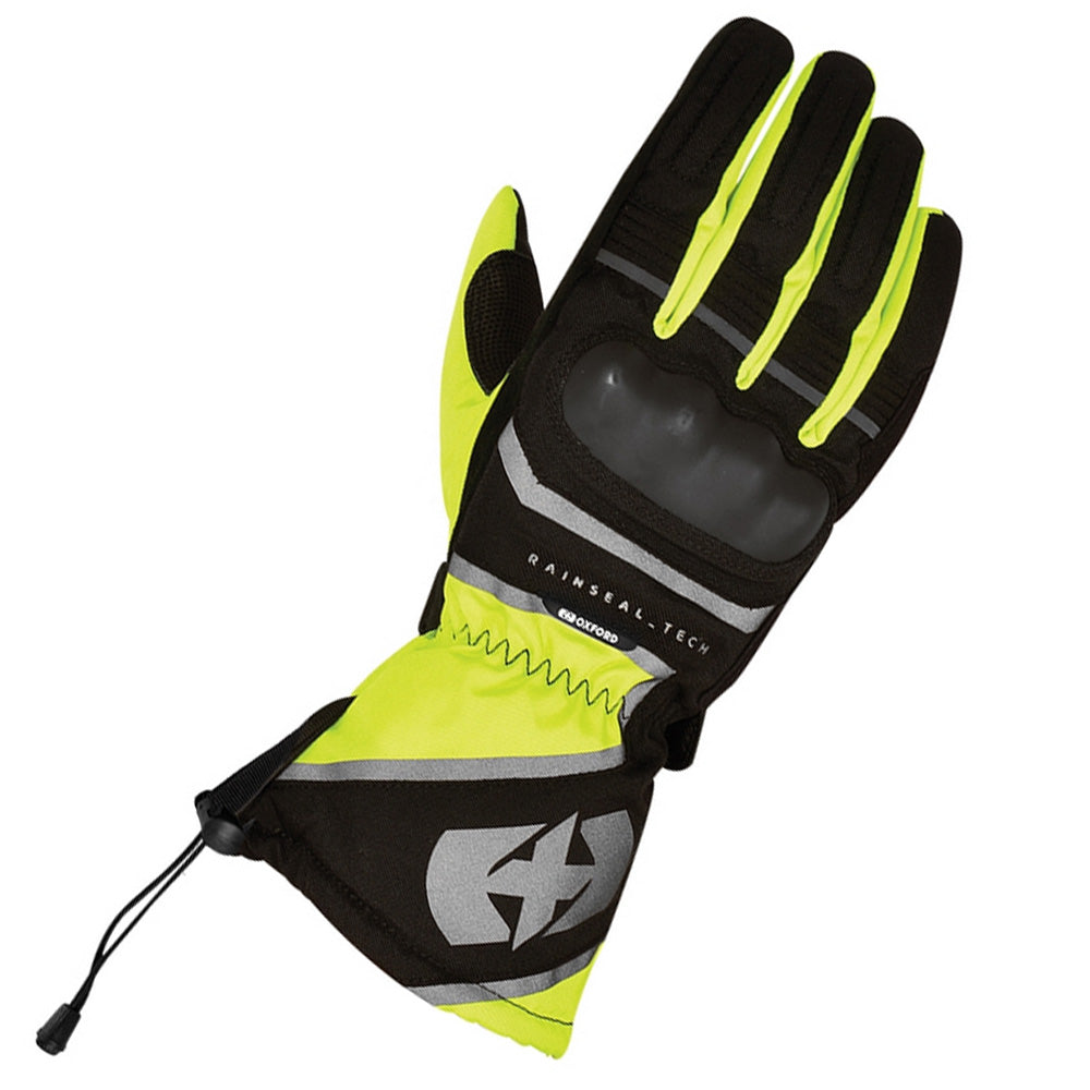 Oxford Montreal 1.0 WP Textile Gloves - Black/Fluo