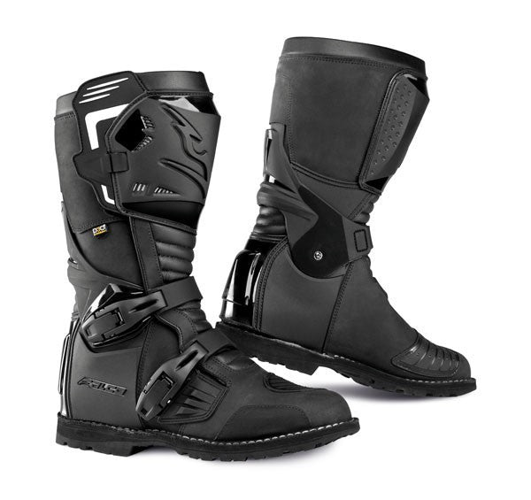 FALCO AVANTOUR ADVENTURE TOURING CE APPROVED MOTORCYCLE BOOTS BLACK - Falco -  - MSG BIKE GEAR
