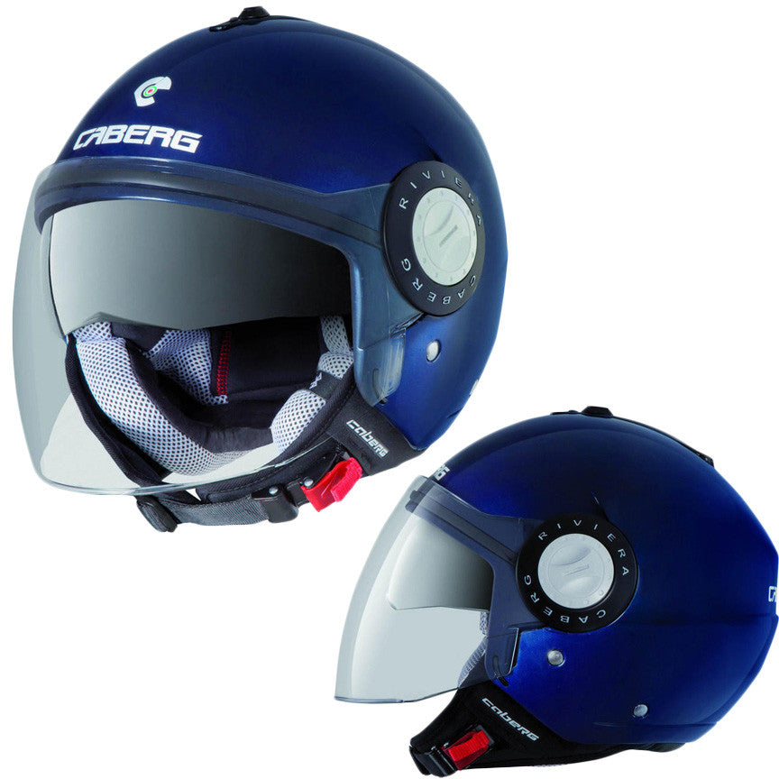 CABERG RIVIERA V2+ BLUE MIDNIGHT OPEN FACE MOTORCYCLE SCOOTER HELMET - Caberg -  - MSG BIKE GEAR
