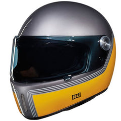 Nexx XG100 R Retro Full Face Helmet - Motordrome Titanium Yellow