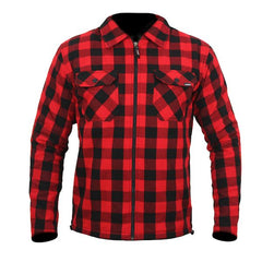 ARMR Armoured Aramid Motorcycle Shirt - Red / Black