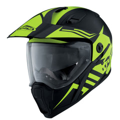 Caberg X-Trace  Motorcycle Dual Adventure Enduro Helmet Lux Matt Black Yellow - Caberg -  - MSG BIKE GEAR - 1