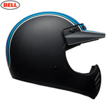 Bell 2018 Moto 3 Classic MX Helmet - Stripes Silver / Black / Blue
