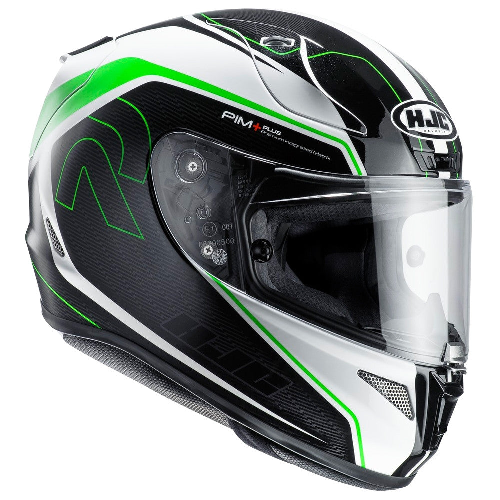 HJC RPHA 11 Full Face Motorbike Motorcycle Helmet Darter Black Green - HJC -  - MSG BIKE GEAR - 1