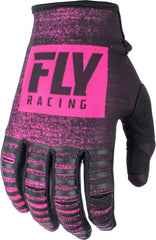 Fly Racing 2019 Youth Kinetic Noiz Motocross Gloves - Neon Pink / Black