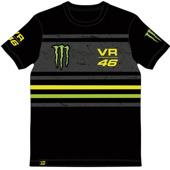 VR46 Valentino Rossi MotoGP Monster Energy T-Shirt Black - VR46 -  - MSG BIKE GEAR