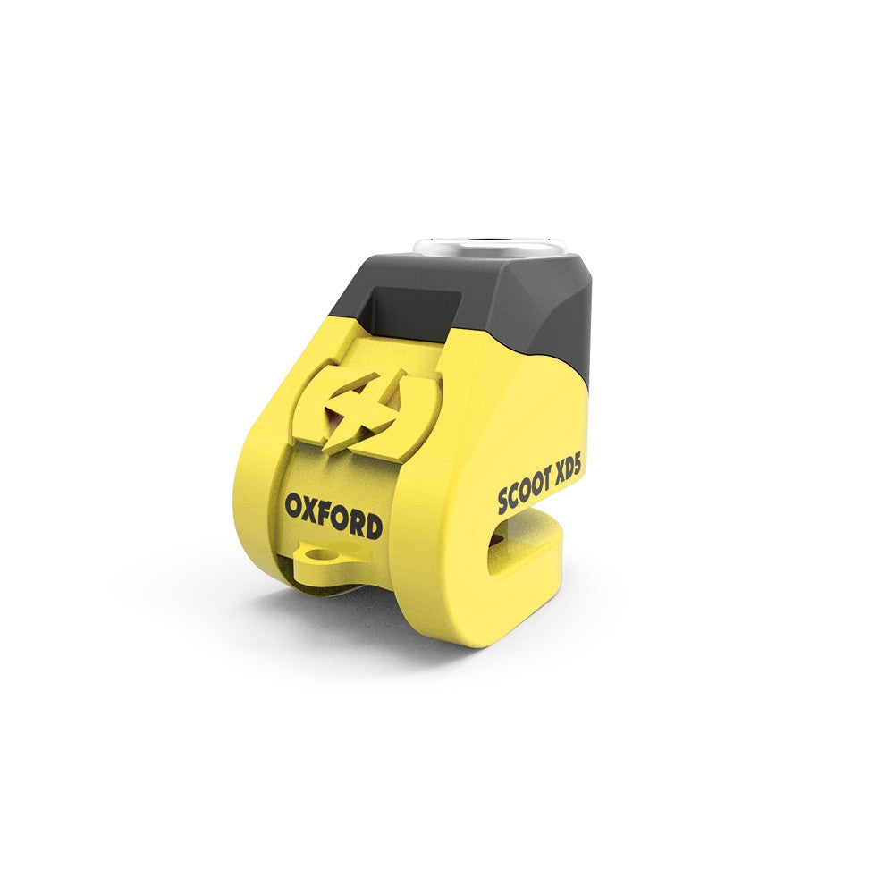 Oxford Scoot XD5 Security Motorcycle Scoot XD5 Disc Lock (5mm pin) Yellow - Oxford -  - MSG BIKE GEAR