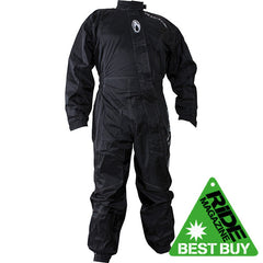 Richa Typhoon Rain Waterproof One Piece Suit overall Black - Richa -  - MSG BIKE GEAR - 1