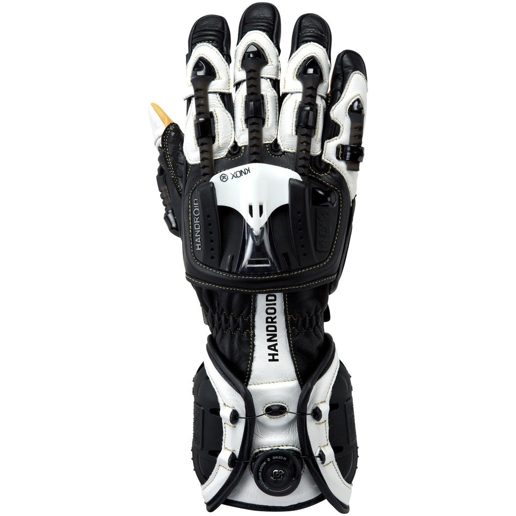 Knox Handroid Motorcycle Gloves Hand Armour Summer Motorbike Race Sports - Black/White - Knox -  - MSG BIKE GEAR - 1