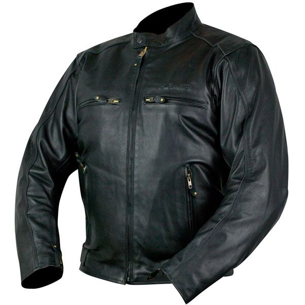 ARMR Hiro Classic Leather Motorcycle Jacket - Black