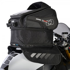 Oxford M30R Magnetic Motorcycle Tank Bag - Black - 30 Litres + Rain Cover - Oxford -  - MSG BIKE GEAR - 1