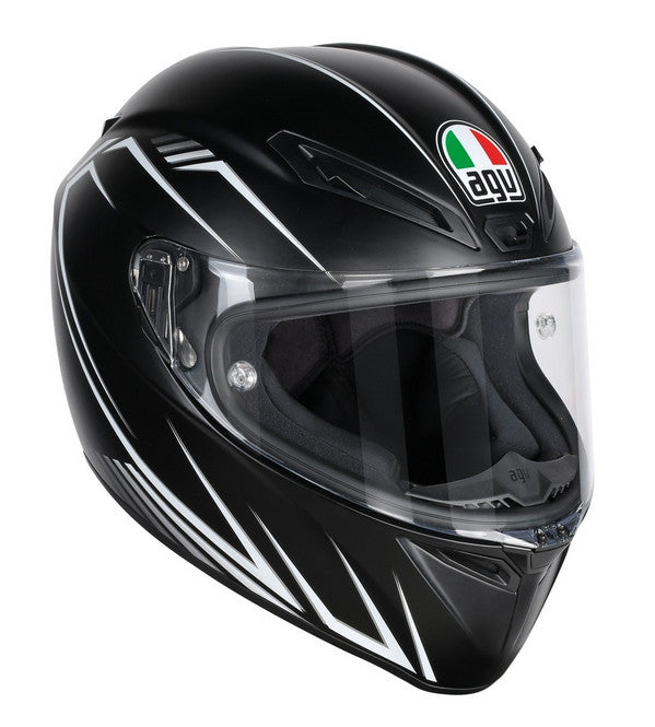 AGV Veloce-S Full Face Helmet - Predator Black/Grey