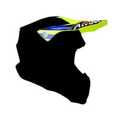 Airoh Twist Replacement MX Helmet Peak - Cairoli Qatar Yellow