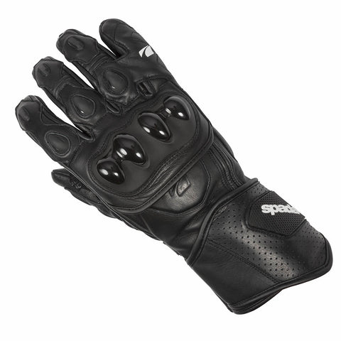 Spada Summer Covert CE Approved Motorcycle Motorbike Leather Gloves - Black - Spada -  - MSG BIKE GEAR - 1