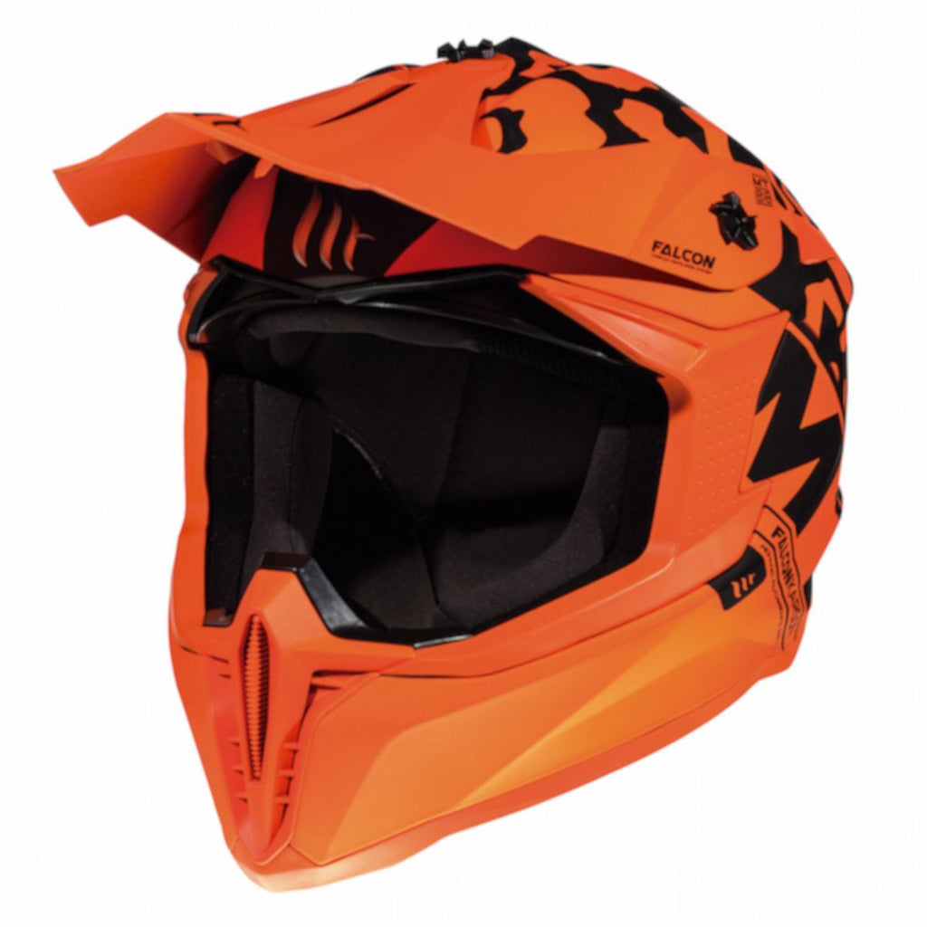 MT Falcon Karson Motocross Helmets - Matt Fluo Orange