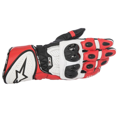 Alpinestars GP Plus-R Sports Track Motorcycle Gloves - Black/White/Red - Alpinestars -  - MSG BIKE GEAR - 1