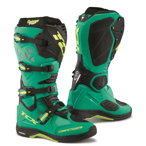 TCX Comp Evo Michelin Enduro Off Road MX MotoCross Boots - Blue Lime - TCX -  - MSG BIKE GEAR - 1