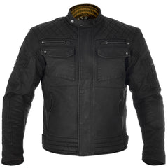 Oxford Hardy Waxed Cotton Motorcycle Motorbike Jacket - Black - Oxford -  - MSG BIKE GEAR - 1
