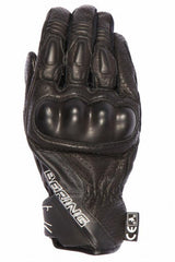 BERING RAVEN LEATHER SUMMER BIKE MOTORCYCLE  GLOVES BLACK - BERING -  - MSG BIKE GEAR