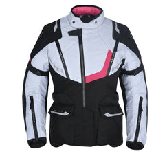 Oxford Montreal 3.0 Ladies Textile Jacket - Black / White / Pink