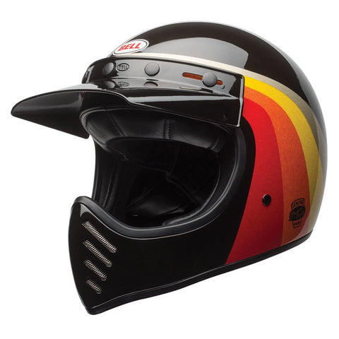 Bell Cruiser Moto 3 Adult Helmet (Chemical Candy Black/Gold)