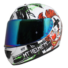 MT Rapide Bad Clown Helmet - Black / White / Red / Green