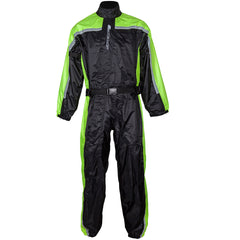 Spada 408 One Piece Waterproof Motorbike Motorcycle Over Suit - Black/Fluo - Spada -  - MSG BIKE GEAR - 1