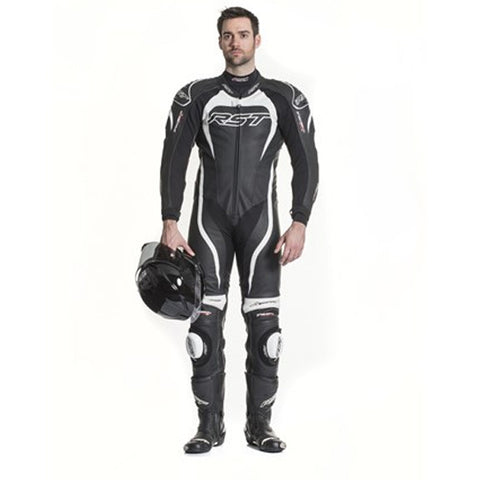 RST TRACTECH EVO II 1415 LEATHER SPORTS TRACK MOTORCYCLE SUIT WHITE - RST -  - MSG BIKE GEAR - 1