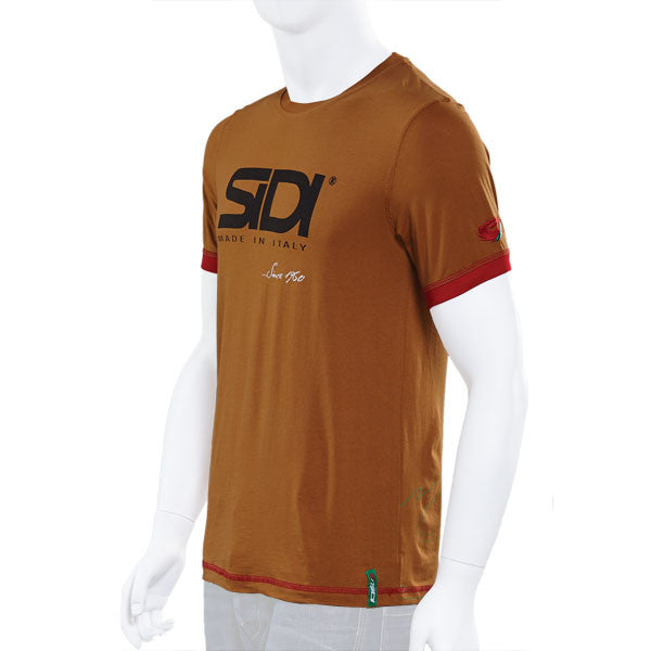 OFFICIAL SIDI CASUALS T-SHIRT TEE -SINCE 60 BURNT SIENNA - Sidi -  - MSG BIKE GEAR
