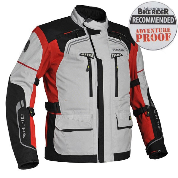 Richa Infinity Waterproof Textile Motorcycle Jacket Black/Grey/Red - Richa -  - MSG BIKE GEAR - 1