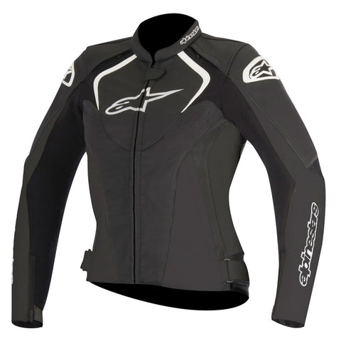 Alpinestars Stella Jaws Ladies Leather Motorbike Motorcycle Jacket - Black - Alpinestars -  - MSG BIKE GEAR - 1