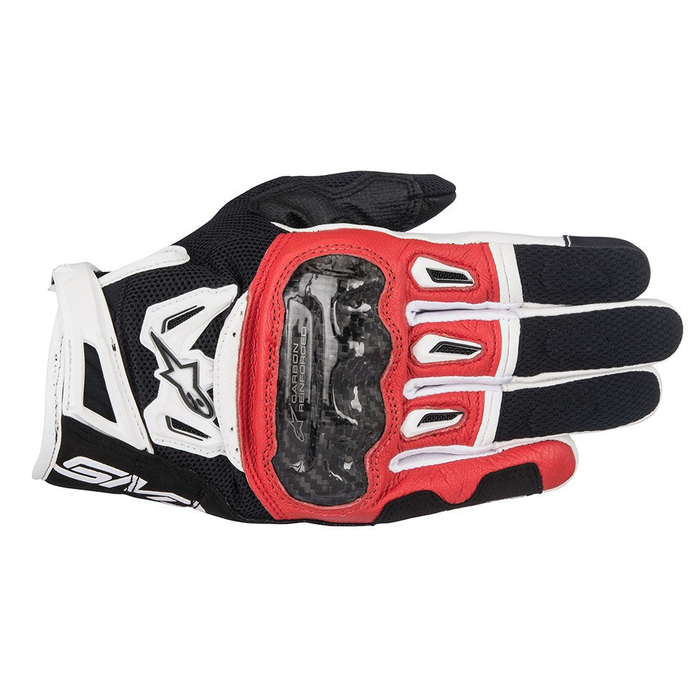 Alpinestars SMX-2 Air Carbon V2 Gloves - Black / Red / White