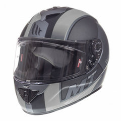 MT Rapide Overtake Full Face Helmets - Matt Black/White