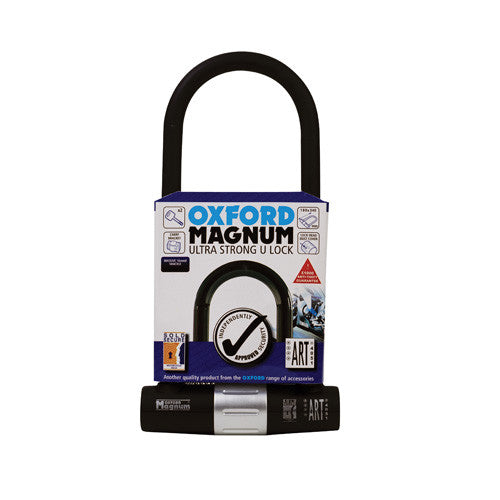 Oxford Magnum MOTORCYCLE U-lock with bracket - Oxford -  - MSG BIKE GEAR