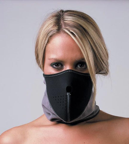 Oxford Motorbike Motorcycle Toasty Face Mask Neoprene & Fleece black/grey - Oxford -  - MSG BIKE GEAR