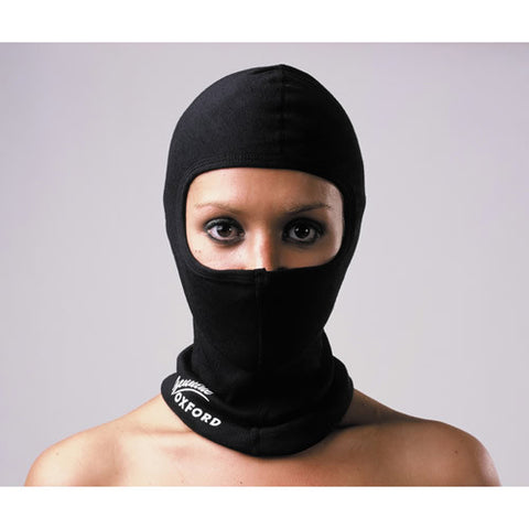 OXFORD BLACK THERMAL BIKE MOTORCYCLE NECK WARMER HELMET COTTON BALACLAVA - Oxford -  - MSG BIKE GEAR