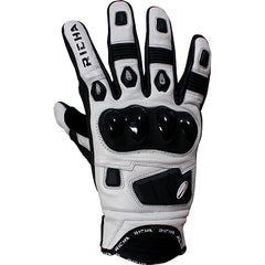 Richa Rock Short Leather Sports Summer Motorcycle Gloves Black/white - Richa -  - MSG BIKE GEAR - 1