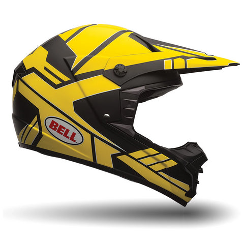 Bell MX 2016 SX-1 MotoCross Enduro Helmet (Stack Charcoal/Yellow) - Bell -  - MSG BIKE GEAR