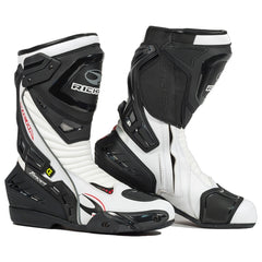 Richa Tracer EVO Sports Waterproof CE Motorcycle Track Boots Black/White - Richa -  - MSG BIKE GEAR - 1