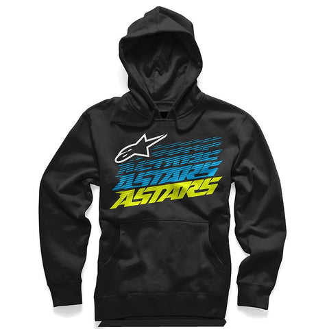 Official Alpinestars Hashed Pull Over Fleece Hoodie Hoody - Heather/Black - Alpinestars -  - MSG BIKE GEAR