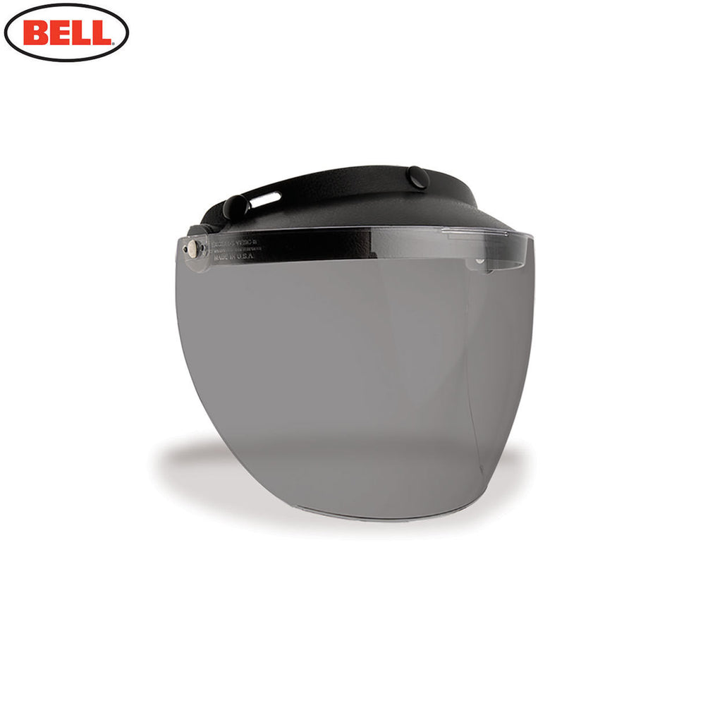 Bell Custom 500 Motorcycle Helmet Replacement MXL 3-Snap Flip Visor Smoke - Bell -  - MSG BIKE GEAR