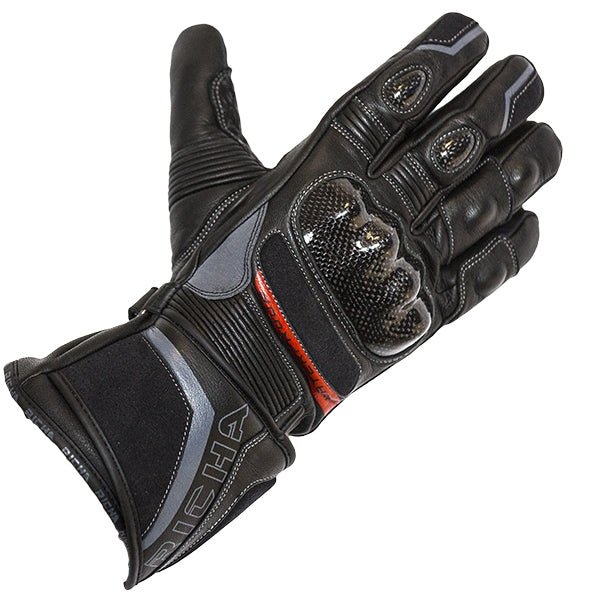 Richa Baltic Evo Leather Armoured Waterproof Thermal Motorcycle Gloves Black - Richa -  - MSG BIKE GEAR - 1