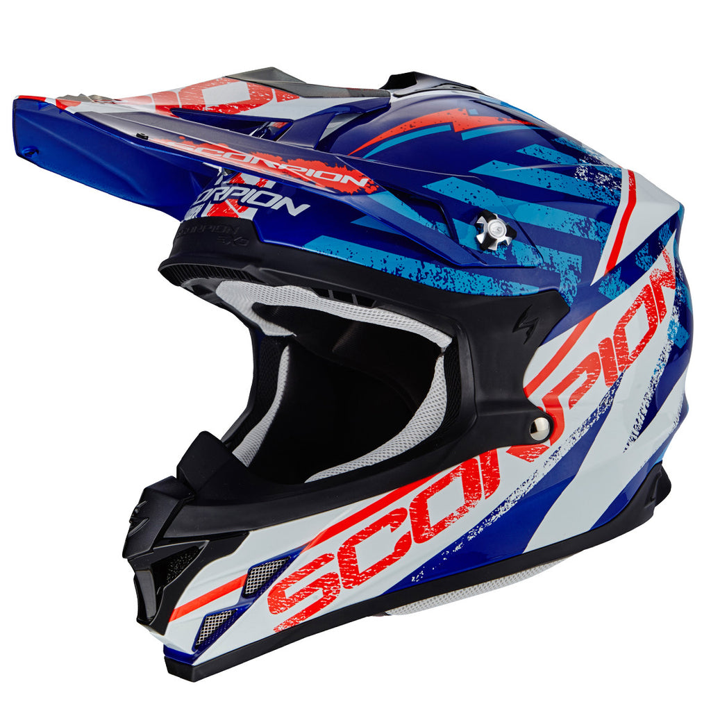 Scorpion Exo VX15 Air Evo Off Road Helmet - Gamma Blue/White