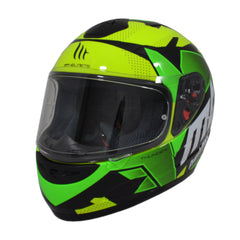 MT Thunder Torn (Kids) Full Face Helmets - Fluo Yellow/Green