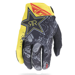 Fly 2018 Lite Adult MX Off Road Motocross Gloves - Rockstar Black/White/Red
