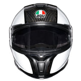 AGV Sports Flip Front Helmet - Gloss Carbon White