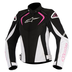 Alpinestars Stella T-JAWS Ladies WP Motorcycle Jacket - Black/White/Pink - Alpinestars -  - MSG BIKE GEAR - 1